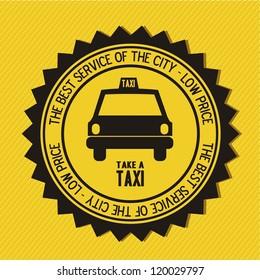 Illustration of taxi icons, transport industry, vector illustration