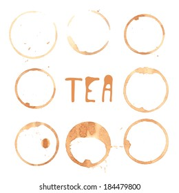 Illustration of tea stains.