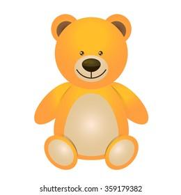 Illustration of teddy bear - toy for children