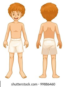 Illustration of teen front and back