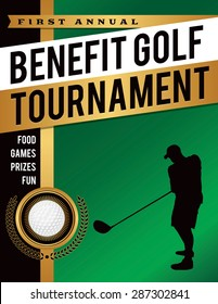 template golf tournament scramble invitation flyer stock vector