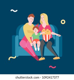 Illustration template vector with happy lesbian family