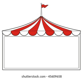 illustration of a tent sign perfect for promotion or advertising or carnival