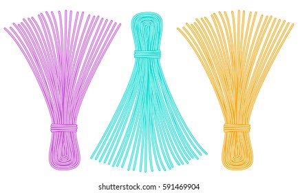 Illustration of the thread tassel set
