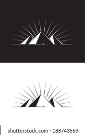 Illustration of three Pyramids