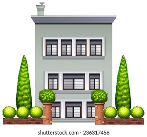 Illustration of a three stories house