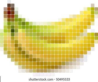 Illustration of tiled banana