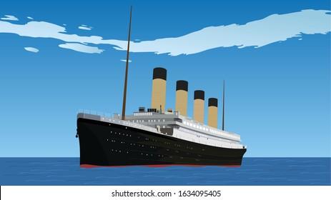 Illustration of Titanic Ship vector design