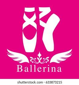 Illustration of toe shoes./ Ballerina's image.