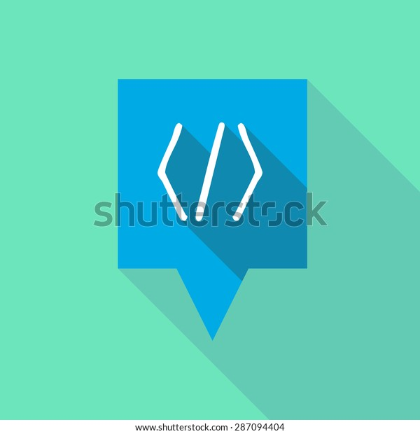 Illustration of a tooltip icon with a code sign