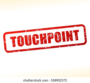 Illustration of touchpoint text stamp