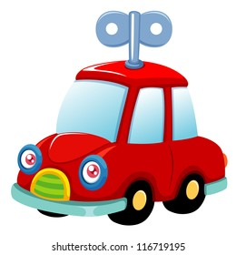 illustration of Toy car.Vector