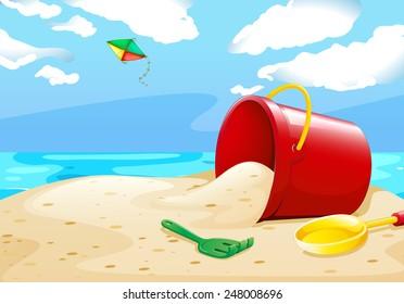 cartoon beach scene images stock photos vectors shutterstock rh shutterstock com cartoon beach scene clipart cartoon beach scene clipart