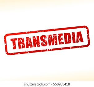 Illustration of transmedia text stamp