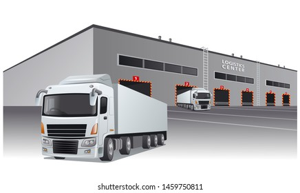 illustration of the transport logistics center