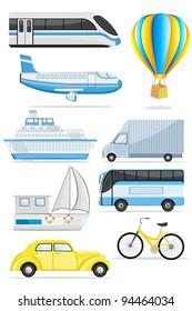 illustration of transportation icon on isolated background