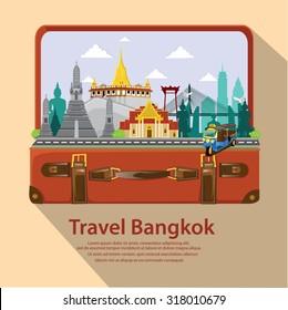 illustration. Travel around Bangkok.