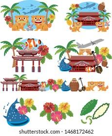 Illustration to travel to Okinawa, Japan