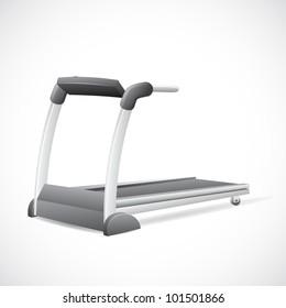 illustration of treadmill on abstract background