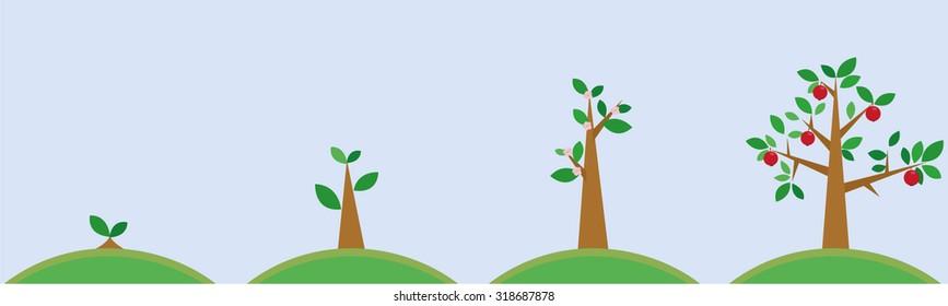 illustration of tree care