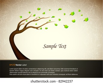 Illustration with tree/  EPS10 Compatibility Required