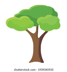 illustration of a tree shape with a flat design style