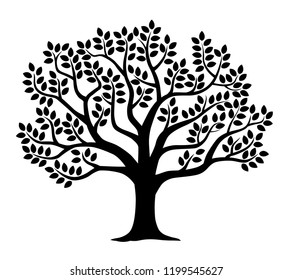 Illustration of tree silhouette