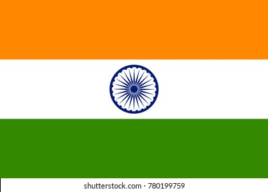 illustration of Tricolor Indian Flag background for Republic  and Independence Day of India