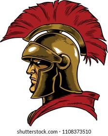 Illustration of a Trojan warrior.