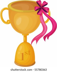 Illustration of A Trophy on white background