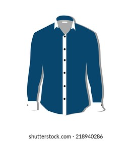 Illustration of  t-shirt,  clothes,  man shirt, formal shirt,  blue shirt,  shirt template