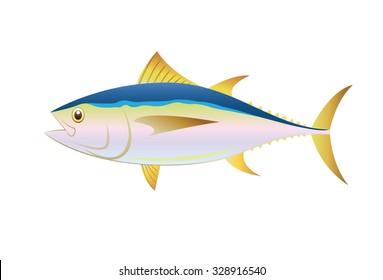 Illustration tuna fish