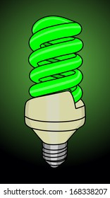 illustration of turn on light bulb
