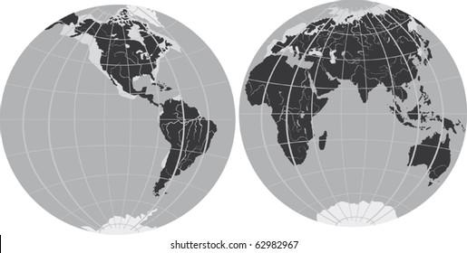 illustration with two hemispheres