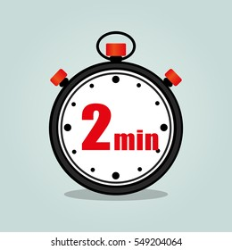 Illustration of two minutes stopwatch isolated icon