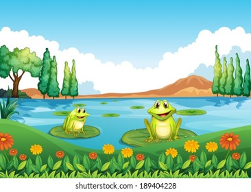 Frog Pond Images, Stock Photos & Vectors | Shutterstock