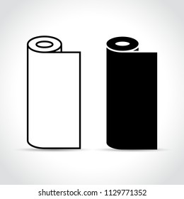 Illustration of two rolls on white background