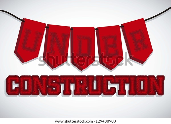 Illustration of under construction, Construction Icons, Site, worker, tools, vector illustration