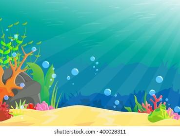 illustration of underwater landscape