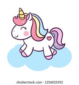illustration of Unicorn cartoon