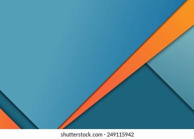 Illustration of unusual modern material design vector background