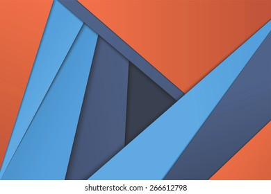 Illustration of unusual modern material design vector background