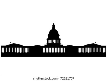 Illustration of the U.S. Capitol, Washington D.C.