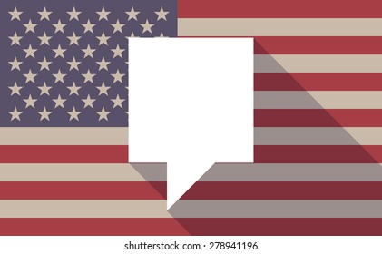 Illustration of an USA flag icon with a tooltip