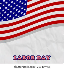 Illustration of U.S.A flag for U.S.A labor day
