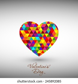 Illustration of Valentine's Day with beautiful heart design.