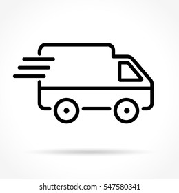 Illustration of van thin line icon design