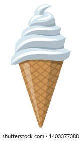 illustration of the vanilla ice cream in the scoop