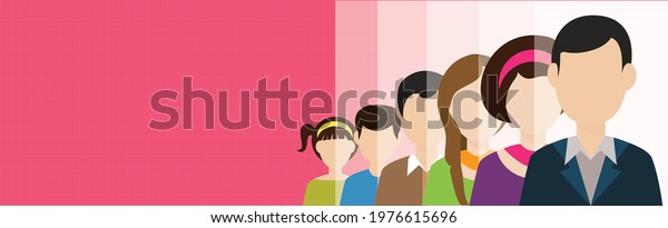 Illustration of a variety of great looking people.