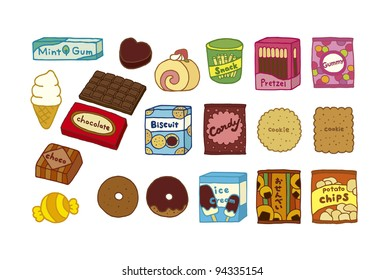 Illustration of a variety of sweets